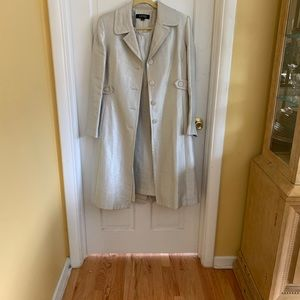 Pearl silver 2 piece dress suit